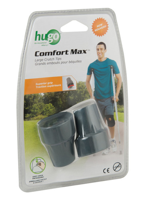 Hugo Comfort Max Crutch Tips, Large -Pair | Package Image