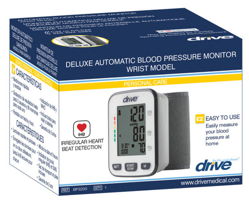 Drive Medical Deluxe Automatic Blood Pressure Monitor, Wrist | UPC: 822383584232