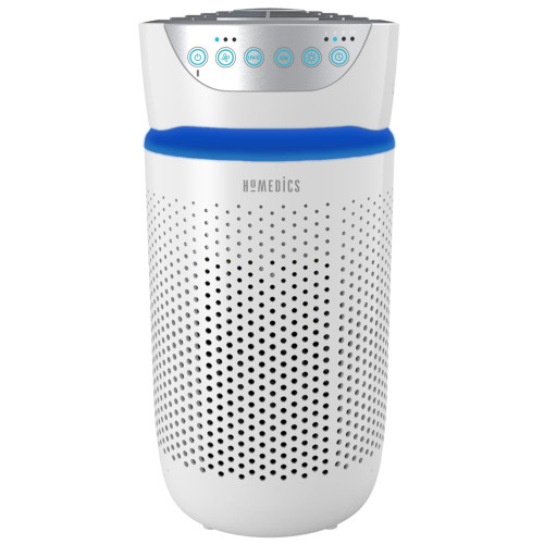 HoMedics TotalClean 5-in-1 Tower Small Room Air Purifier - 360 Degree HEPA-Type Filtration | AP-T20WT-CA | 031262092458