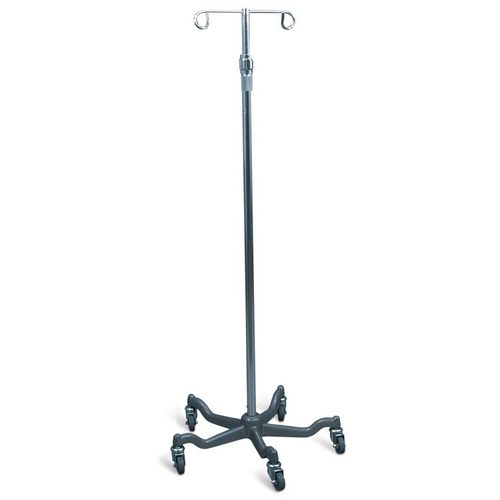 AMG Medical Aluminum 2-Hook IV Stand with Weighted Base -  AMG-775-785