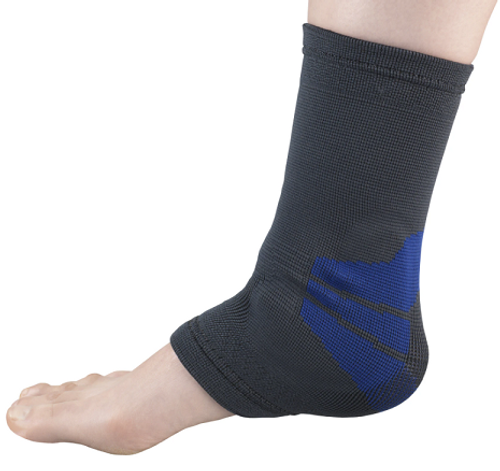 Airway Surgical OTC Ankle Support With Compression Gel Insert Charcoal -