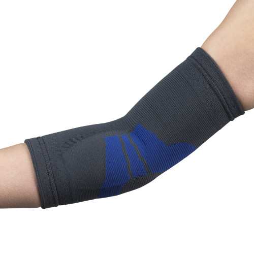 Airway Surgical OTC Elbow Support With Compression Gel Insert And Encircling Strap Charcoal   Code: 2439-XS   2439-S   2439-M   2439-L   2439-XL   UPC: XS 048503243913  S 048503243920  M 048503243937  L 048503243951  XL 048503243968