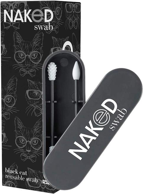 NakedSwab Reusable Swab - 2 Swabs, Black Cat |