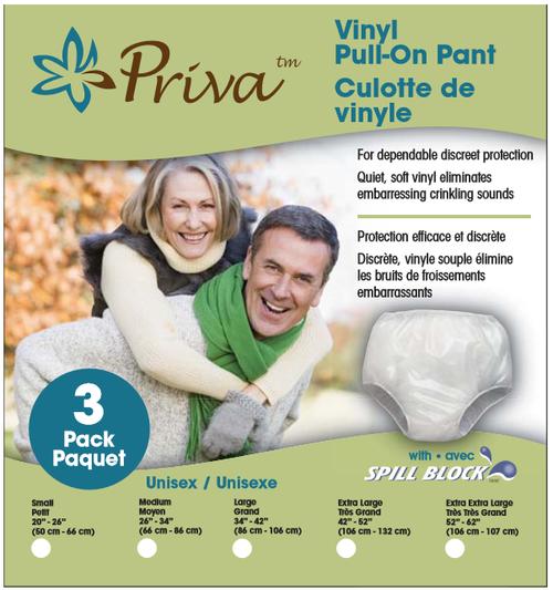 Priva Vinyl Pull-On Pant 3 Pack |
