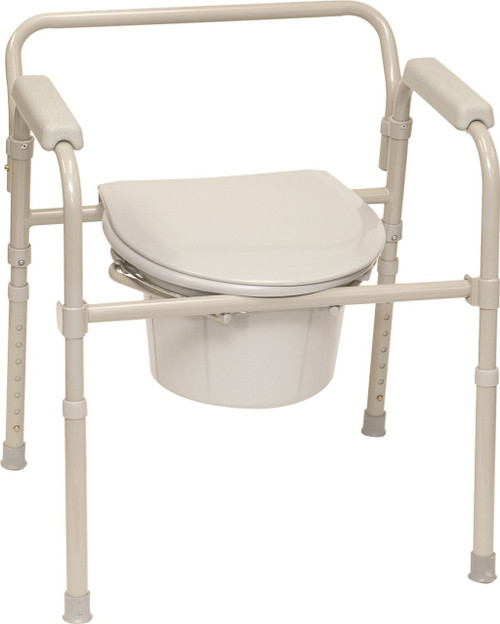 ProBasics Three-in-One Folding Commode with Full Seat -  PRB-BSFC