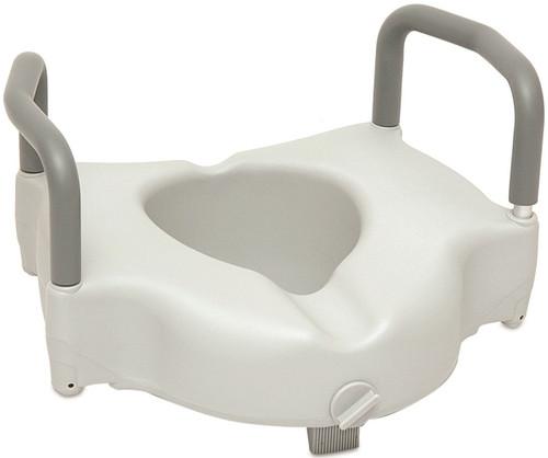 ProBasics Raised Toilet Seat with Lock and Arms | UPC: 815067072019 | SKU: PRB-BSRTSLA