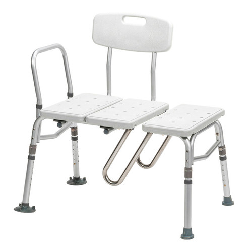 Drive Medical Splash Defense Transfer Bench with Curtain Guard Protection -  DRI-RTL12032KDR