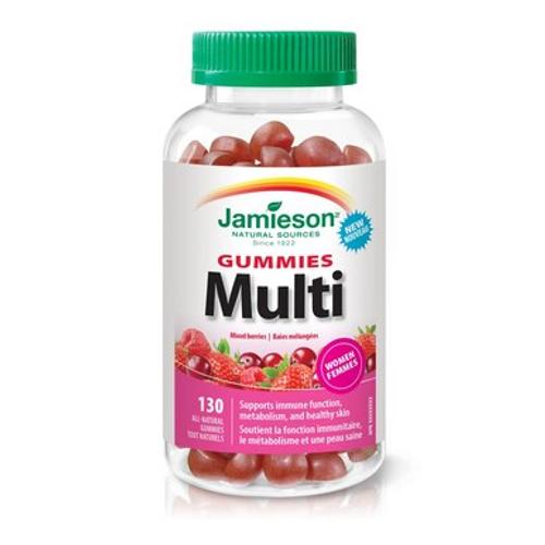 Jamieson Multivitamins for Women 130 Gummies   9162   064642091628