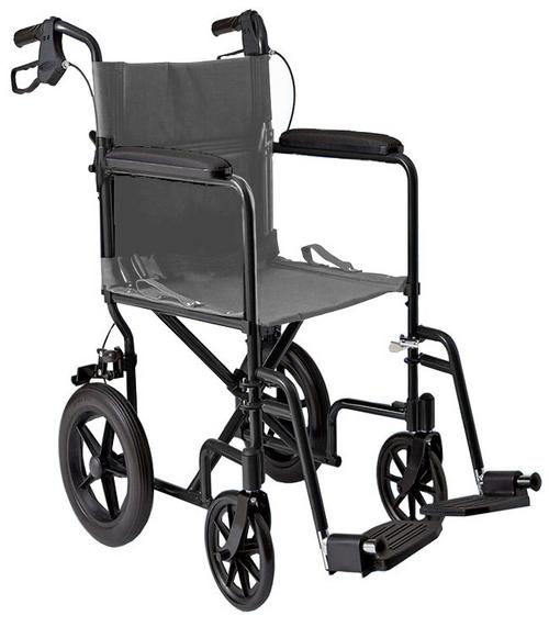 "MOBB Lightweight Transport Chair 12"" Rear Wheels -  MOB-MHTC12"