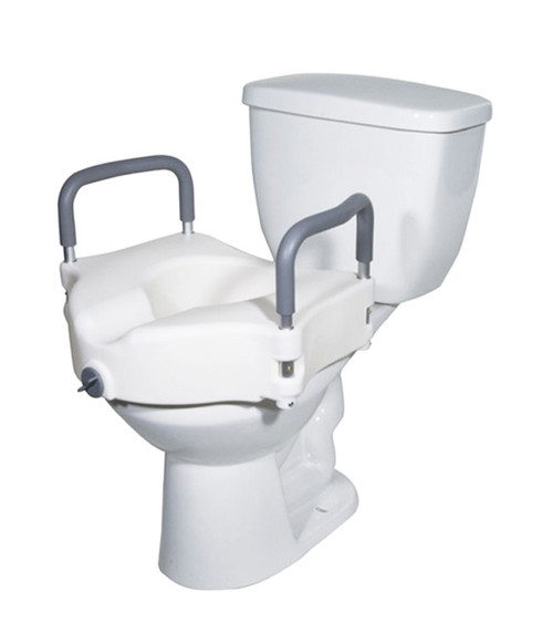 Mobb Locking Raised Toilet Seat with Removable Arms   MHLRTSA   844604100328