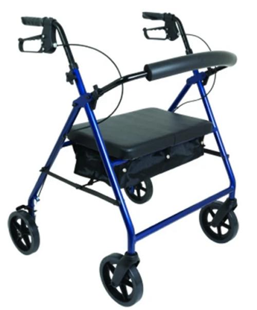 """ProBasics™ Bariatric Rollator with 8"""" Wheels Blue   SKU: PRB-RLAB8BL   815067071739"""