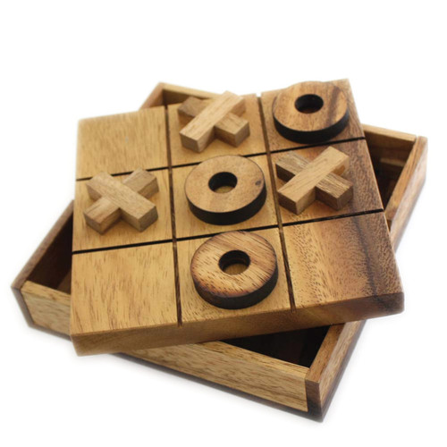 MaxiAids Tic Tac Toe Tactile Wooden Game -  MAX-292116