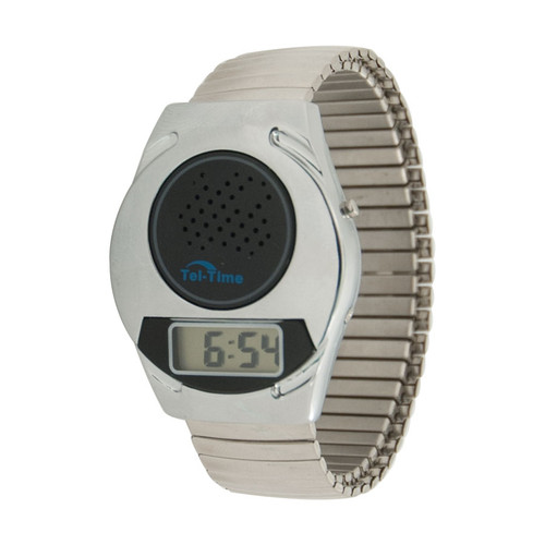 MaxiAids Talking Watch with Expansion Band - Unisex -  MAX-72-SW-5SS