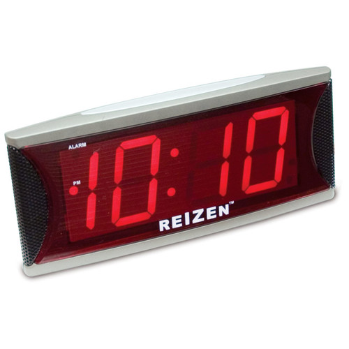 MaxiAids Reizen Jumbo Super Loud Alarm Clock with 2-Inch Red LED -  MAX-701810