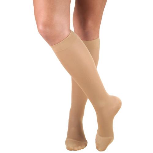 Airway Surgical Truform Ladies' Opaque Knee High Closed Toe Stockings 20-30 mmHg Beige | UPC: 048503036324 | 048503036331 | 048503036355 | 048503036362 | MPN: 0363BG-S | 0363BG-M | 0363BG-L | 0363BG-XL