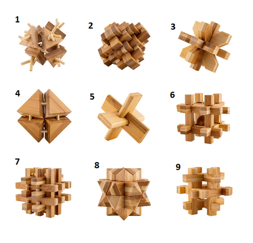 Relaxus Eco Bamboo Brain Teaser Puzzles -  REL-L00774