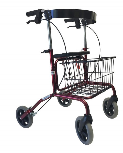 Human Care Rebel 72 Rollator With Back Support & Basket | Low: 22441Q1BR | Standard: 22440Q1BR