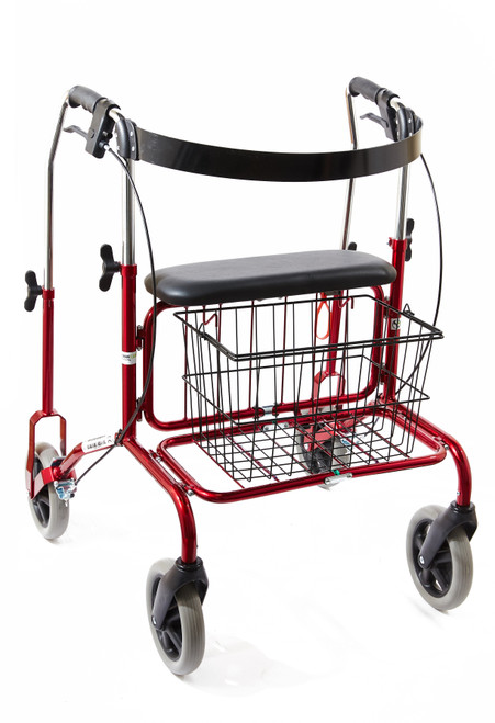 Human Care Rebel 72 Reinforced Rollator With Back Support & Basket | HMC-71421BR