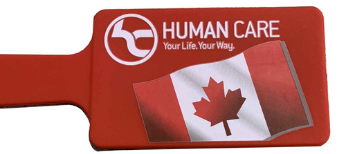 Human Care ID Tag | Red Canadian Flag | MPN: 90392 | UPC: 881608700482