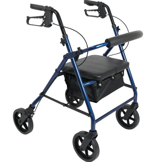 "ProBasics Aluminum Rollator with 8"" Wheels Blue | 815067071661"