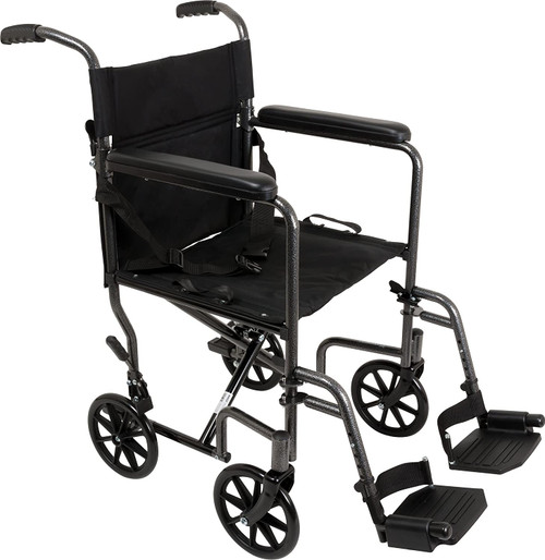 "ProBasics Steel Transport Chair 19"" Silver Vein Finish |UPC: 815067070480 | SKU: PRB- TCS1916SV"