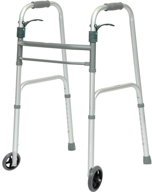 ProBasics Aluminum Walker Trigger with Wheels Adults   UPC: WKAAWSL   MPN: 815067071005