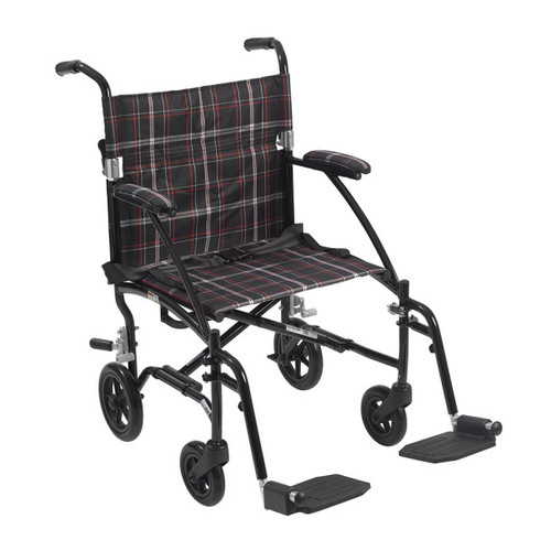 Drive Medical Fly-Lite Aluminum Transport Chair -  DRI-DFL19