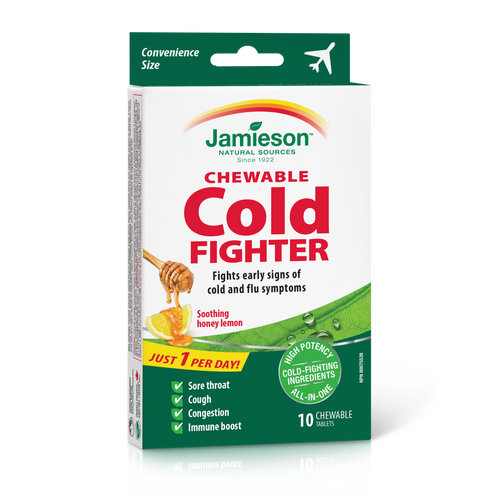 Jamieson Chewable Cold Fighter 10 Chewable Tablets   064642091321