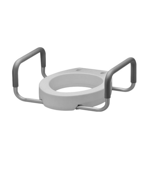 """MOBB 2"""" Elongated Raised Toilet Seat with Arms -  MOB-MHERTSA2"""