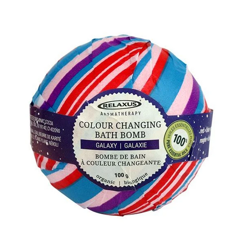 Relaxus Aromatherapy Colour Changing Organic Bath Bomb 100g -  REL-5048