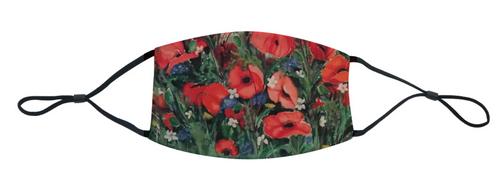 loveJack Anita Cole Face Mask - A Sea of Poppies -  LJK-1000-001