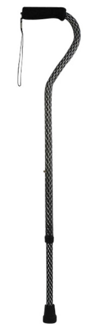 Drive Medical Aluminum Etched Offset Cane - Black   730-420   775757304205