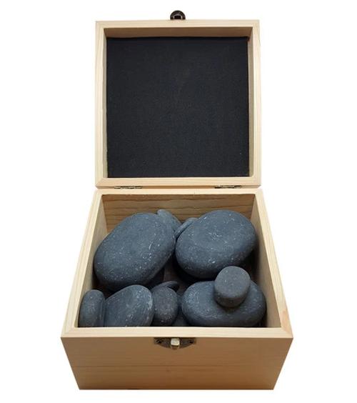 Relaxus Hot Stone Polished Massage Set (20 piece) -  REL-L8896