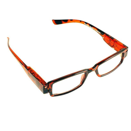 Relaxus Light-Up Night Reader Glasses- Assorted Colours Red |UPC: 0628949141434
