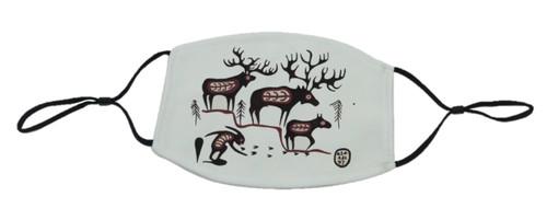 loveJack Norval Morrisseau Face Mask - Moose Dream Legend -  LJK-1004-001