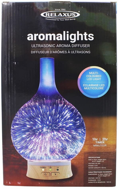 Relaxus Aromalights Ultrasonic Aroma Diffuser Multi-Color | 628949072119