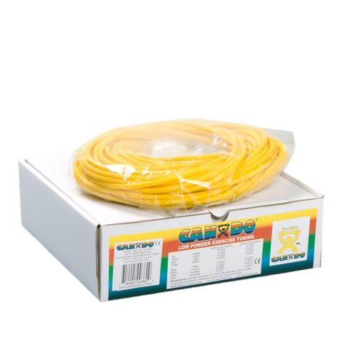 CanDo Exercise Tubes 100 Foot Box - Yellow Tube Thin | BS-105521E | 714905003829
