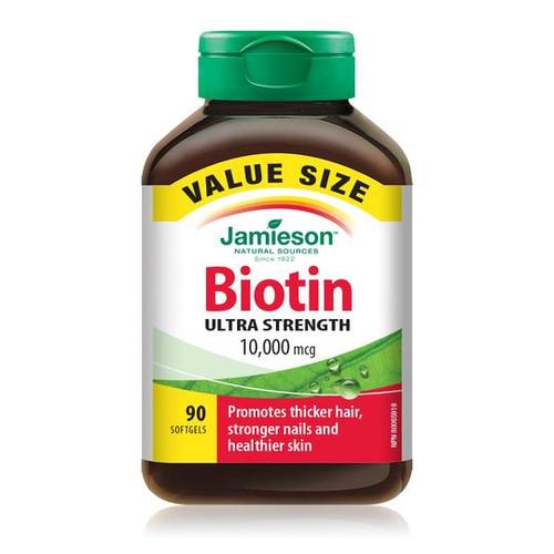 Jamieson Biotin 10,000 mcg Value Size 90 softgels -  JM-1182-001