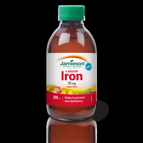 Jamieson Iron Liquid 10 mg – Tropical Citrus 200 ml   064642092182