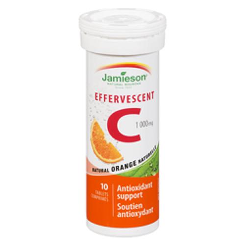 Jamieson Effervescent Vitamin C 1000mg 10 Tablets Sale -  UP-JM-1109-001