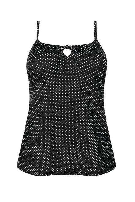 Amoena Romantic Downtown Tankini - Black and White Dots   AMO-571479, 57147910B, 57147912B, 57147912C, 57147914C, 71479, 4026275434568, 4026275434575, 4026275434742, 4026275434759