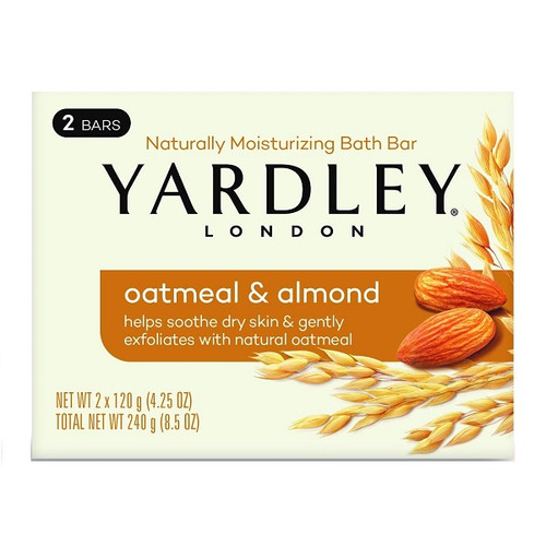 Yardley Oatmeal and Almond Bar Soap - 2 Pack -  YRD-1002-001