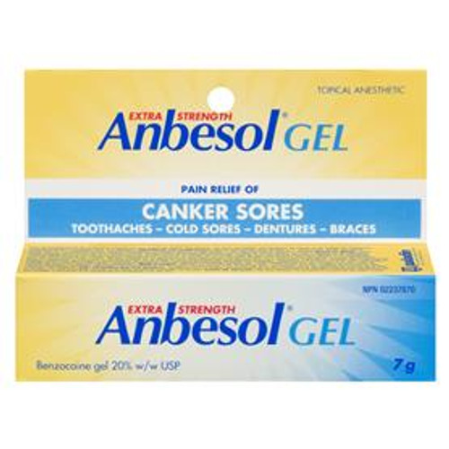 Anbesol Exra Strength Gel 20% Topical Anesthetic 7g | 628791869745 | 69745