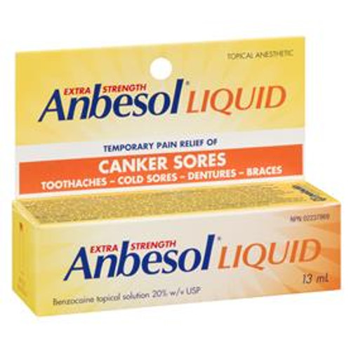 Anbesol Extra Strength Liquid 20% Topical Anesthetic 13 mL | 628791869738 | 69738