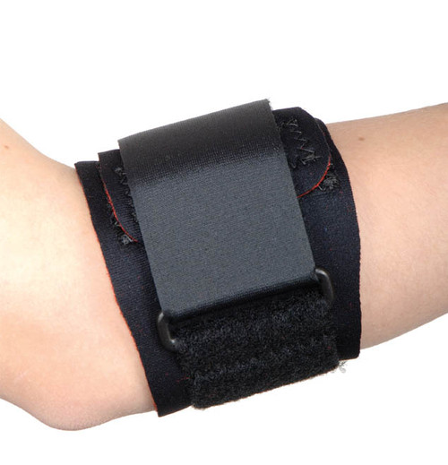 Ortho Active Tennis Elbow Strap with Pad - Black -  ORT-R62