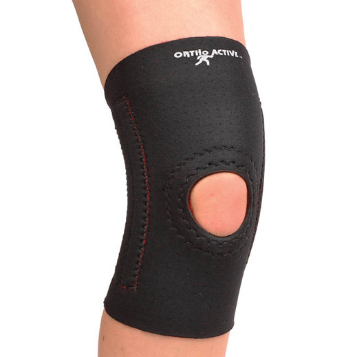Ortho Active Stabilizing Knee Sleeve  - Black Coolprene -  ORT-R43