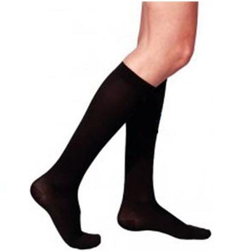 Sigvaris Cotton Calf With Grip Top 30-40 mmHg Women's Closed Toe X-Large Short Black | 233CXSW99S | 745129209216