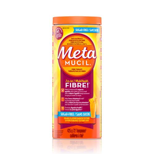 Metamucil 3 in 1 Multihealth Fibre Orange Flavour Smooth Texture Powder - 425 grams | 037000308577