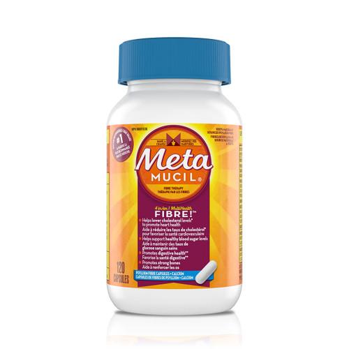 Metamucil Multihealth 4 in 1 Psyllium Fibre Capsules + Calcium 120 Capsules | 056100005773