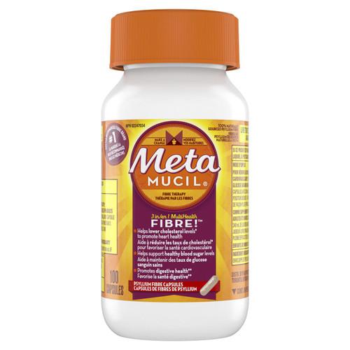 Metamucil 3 in 1 MultiHealth Fibre 100 Capsules | 056100005421